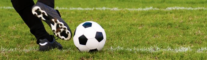 Fussball im Netz